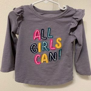 Cat & Jack | Toddler Girl Long Sleeve Shirt -2T